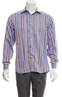 Etro Pinstripe Dress Shirt blue Pinstripe Dress Shirt