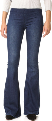 Free People Gummy Denim Penny Pull On Flares $78 thestylecure.com