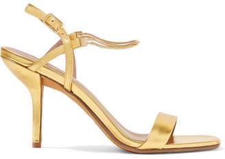 bba4a3b569e3 Diane von Furstenberg Frankie Embellished Metallic Leather Sandals - Gold