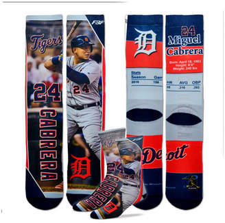 For Bare Feet Miguel Cabrera Detroit Tigers Trading Card Player Crew Socks