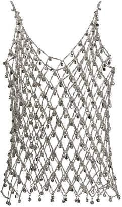 Paco Rabanne crystal metal vest top