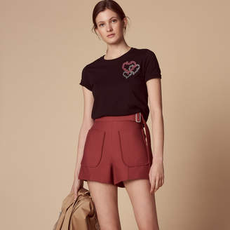 Sandro High-waisted shorts with belt