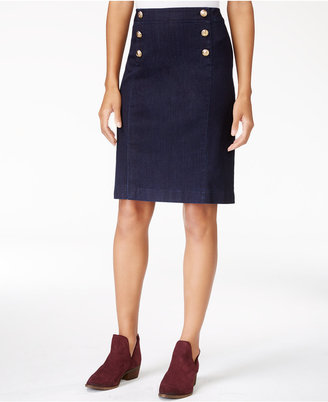 Maison Jules Denim Sailor Skirt, Only at Macy's $59.50 thestylecure.com