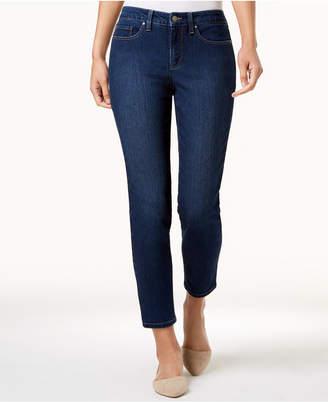 Charter Club Petite Dark Wash Tummy Control Skinny Jeans