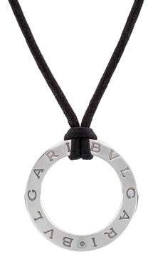 Bvlgari Small Round Cord Pendant Necklace