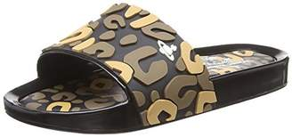 Vivienne Westwood & Melissa Women's VW Beach Slide Leopard Open Toe Sandals,38 EU