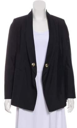 Anthony Vaccarello Shawl-Lapel Structured Blazer