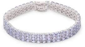 Saks Fifth Avenue 14K White Gold & Tanzanite Bracelet