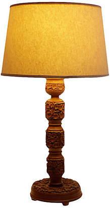 One Kings Lane Vintage Kashmiri Finely Carved Lamp - de-cor