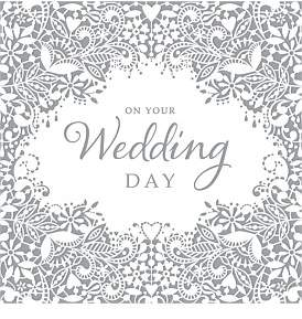 Simson Square Wedding Day Card