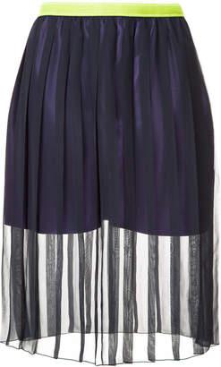 Kolor sheer pleated skirt