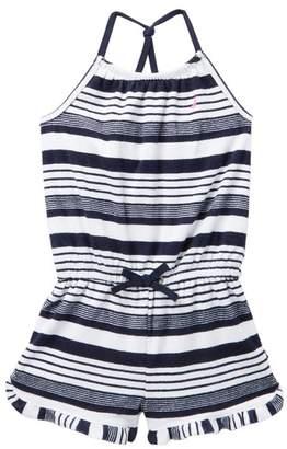 Nautica Striped Terry Knit Romper (Toddler Girls)