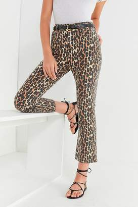 BDG Kick Flare High-Rise Cropped Jean – Leopard