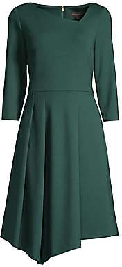 Donna Karan Women's Asymmetrical Three-Quarter Sleeve Dress