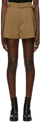 RED Valentino Tan Belted Shorts