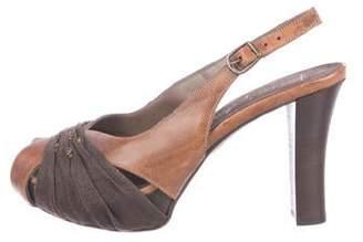 Henry Beguelin Leather Slingback Sandals