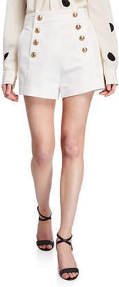 Derek Lam 10 Crosby Sailor Shorts with Button Details