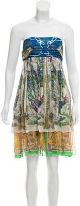 Dolce & Gabbana Printed Strapless Dress
