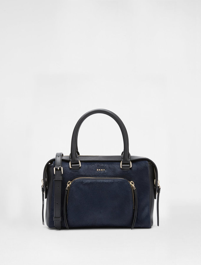 DKNY Small Calf Hair Satchel