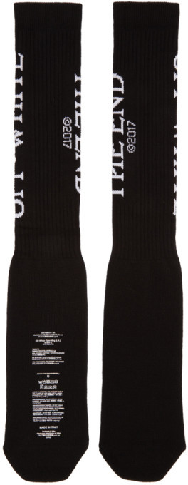 Off-White Black 'The End' Socks 2