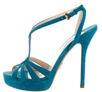 Prada High-Heel Cage Sandals