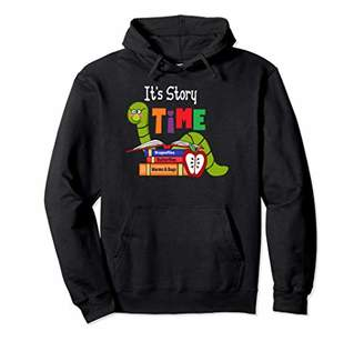 story. Librarian product Teacher Its Time BOOKWORM Design Pullover Hoodie