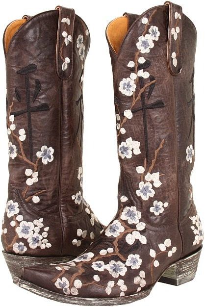 Old Gringo Cherry Blossom Peace (Chocolate) - Footwear