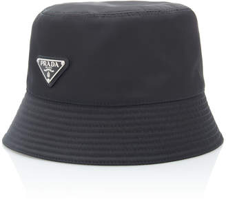 Prada Logo-Embellished Shell Bucket Hat