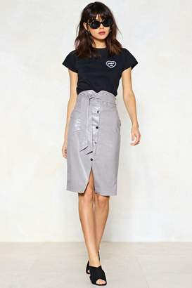 Nasty Gal Snap to It Faux Leather Skirt