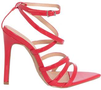 b84b2ae41d616 Missy Empire Ines Red Strappy Patent Pointed Heels