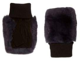 Glamour Puss Glamourpuss Fingerless Rabbit-Fur Gloves