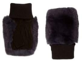 Glamour Puss Glamourpuss Fingerless Rabbit-Fur Gloves