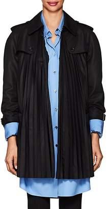 Comme des Garcons Junya Watanabe Women's Pleated Gabardine Trench Coat