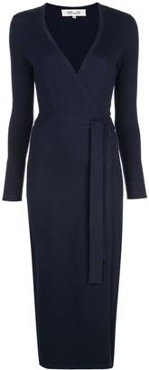 Diane von Furstenberg fine knit wrap dress