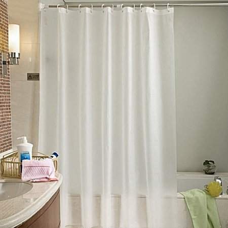 HILLD Home Mold-Proof Translucent Waterproof Bathroom Bath Shower Curtain