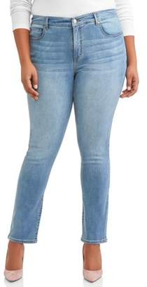 Terra & Sky Women's Plus Size Sculpting Straight Leg Jean