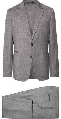Ermenegildo Zegna Grey Slim-Fit Wash & Go Mélange Techmerino Wool-Flannel Suit