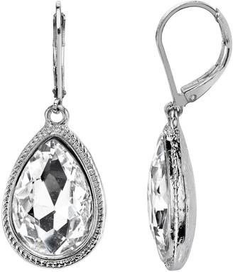 1928 Faceted Stone Teardrop Earrings