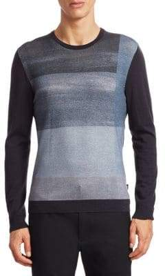 Emporio Armani Colorblock Wool Sweater