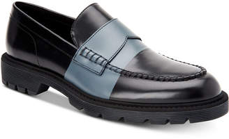 Calvin Klein Men's Florentino Box Leather Loafers Men's Shoes