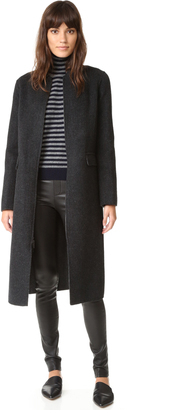 Vince Wool Shell Coat $695 thestylecure.com