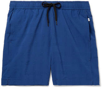 Charles Mid-Length Seersucker Swim Shorts