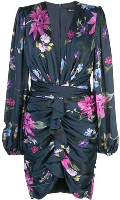 Jill Stuart ruched floral print dress