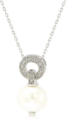 LeVian Suzy Jewelry Sterling Silver 10mm Freshwater Pearl & Created Sapphire Pendant