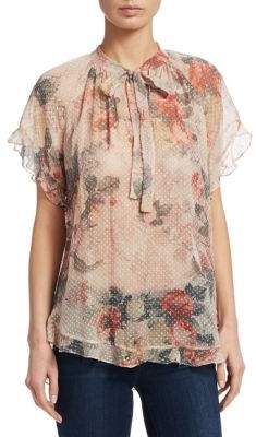 Zimmermann Radiate Cascade Floral Top