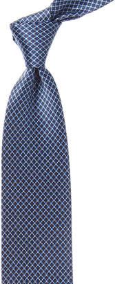 Brioni Blue Geometric Silk Tie