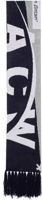 A-Cold-Wall* Grey and Navy The State Commute Oversized Scarf