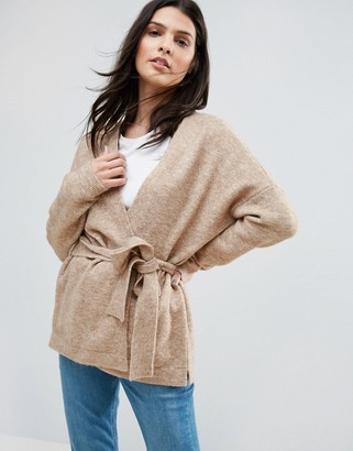 ASOS LOUNGE Cardigan with Wrap $49 thestylecure.com