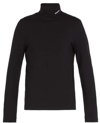 Calvin Klein Roll Neck Cotton Blend Top - Mens - Black