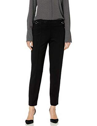 Nine West Women's Compression Pant with Hardware Detail